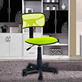 FurnitureR Green Comfortable Mesh High back Office Computer Desk Chair with Fabric Pads