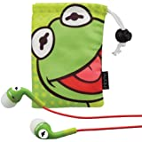 Kermit the Frog Noise Isolating Earphones with Pouch, DK-M153