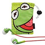 eKids Kermit the Frog  Noise Isolating Earphones with Pouch, by iHome  - DK-M153