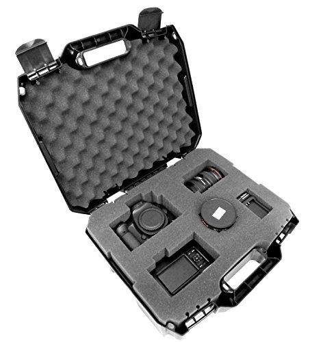 TOUGH-XL Hard-Body Travel and Storage Case Camera , Gear , Equipment and Lenses - Protects Nikon Digital SLR dSLR D3300 / D3200 / D750 / D7100 / D810 / D3100 / D5500 / D7200 / D7000 and more (Big Camera Case compare prices)
