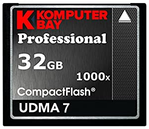 KOMPUTERBAY 32GB Professional COMPACT FLASH CARD CF 1000X 150MB/s Extreme Speed UDMA 7 RAW 32 GB