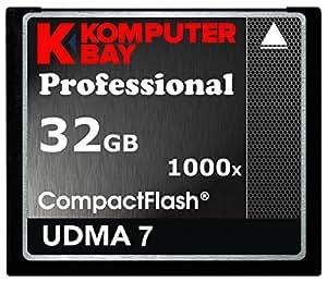KOMPUTERBAY 32GB Professional COMPACT FLASH CARD CF 1000X 150MB/s Extreme Speed UDMA 7 RAW 32 GB