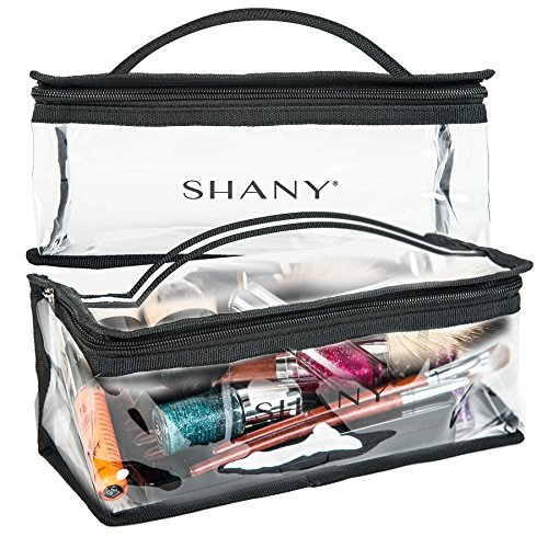 SHANY Clear Travel Makeup Bag - Cosmetics Organizer - Road Trip (Nail Polish Travel Bag compare prices)