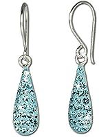 SilberDream scintillement bijoux - boucle d'oreilles en argent 925 avec Zircon Shiny turquoise - GSO208T