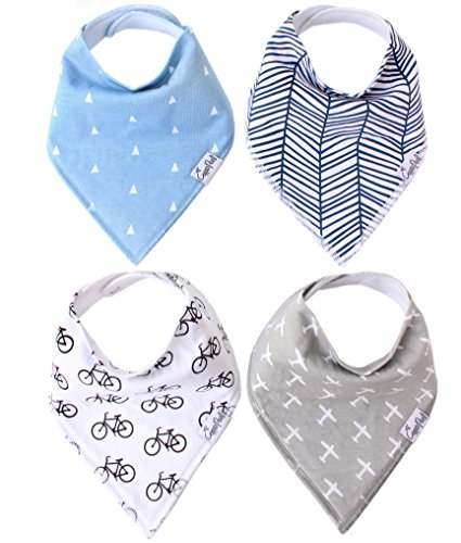 Baby-Bandana-Drool-Bibs-for-Drooling-and-Teething-4-Pack-Gift-Set-For-Boys-Cruise-Set-by-Copper-Pearl