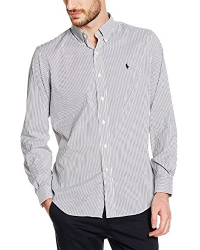 Polo Ralph Lauren Camisa Hombre Otoño/Invierno 16 Slim-fit Gris Oscuro / Blanco M