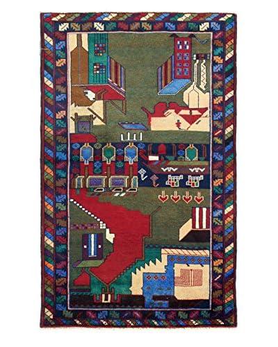Bashian Rugs One-of-a-Kind Pakistani Tribal Belouj Rug, Dark Blue, 3' x 4' 8