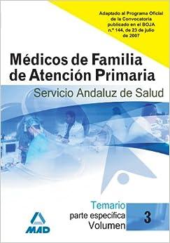 Médicos de Familia de Atención Primaria del Servicio Andaluz de
