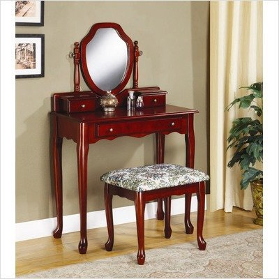 Vanity Table Set in Cherry - Coaster