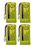 4 Cordless Home Phone Battery for ATT BT184342 BT28433 (Bulk Packaging)