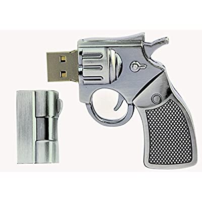16 GB Pen Drive Sliver Color Revolver Shape USB 2.0 Pen Drive MT1031