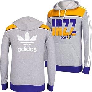 Utah Jazz Adidas NBA Originals Light Weight Hooded Sweatshirt L by adidas