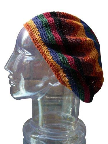 Tam Beret Hat Handmade Crochet Slouchy Dreadlock Reggae Rasta front-547270