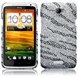 HTC One X Zebra Striped Diamante Case / Cover / Shell / Shield Part Of The Qubits Accessories Rangeby Qubits
