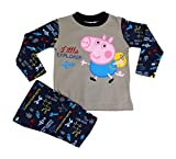 Unisex Peppa Pig Cotton Pyjamas Nightwear Navy Beige 3 sizes GEORGE