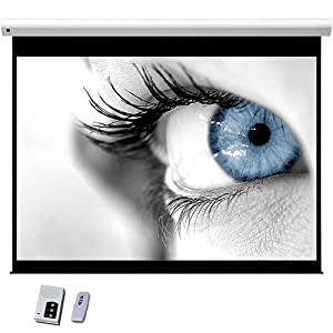"""New 120"""" Electric HD Projector Screen 16:9 Matt White Screen Wall, Ceiling Mountable Support Wipe Clean with Remote"""