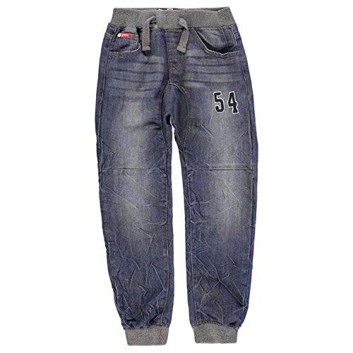 Lee Cooper Ragazzi Number Jeans Denim Pantaloni Casual Mid Wash 11-12 (LB)