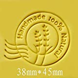 Round Handmade 100% Natura pattern Mini diy soap stamp chaprter seal 3.84.5cm (Color: send random)