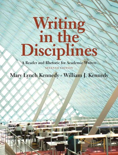 Writing in the Disciplines: A Reader and Rhetoric...