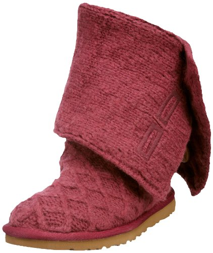 Ugg Australia Women's W Lattice Cardy Pomegranate Pull On Boots 3066 5.5 UK