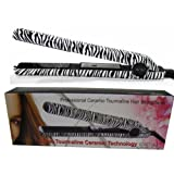 RoyalCraft TM Hair Straightener Iron Zebra Print Ceramic Professional Immediate Heat Up.