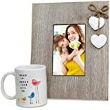 Printed Mug N Photo Frame - Wooden Photo Frame 1, Coffee Mug 1, Mothers Day Gifts, Mothers Day Present, Mothers...