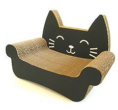 くらふと工房クレアル 猫つめとぎ キャットソファ (黒・白)