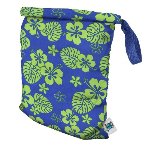 Planet Wise Roll Down Wet Diaper Bag, Blue Hawaii, Medium