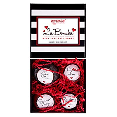 Best Cheap Deal for Bath Bombs Gift Set - Luxury Bath Fizzies - Lush Size 6oz Natural Bath Balls - US Made - La Bomba by pure sanctum - Free 2 Day Shipping Available
