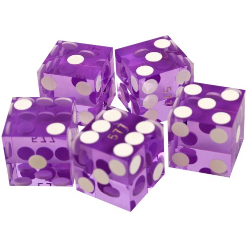Big Save! Trademark Poker 19mm A Grade Serialized Set of Casino Dice (Purple)