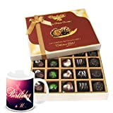Modern Collection Of Dark And Milk Chocolate Box With Birthday Mug - Chocholik Belgium Chocolates