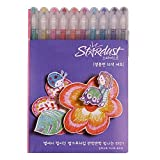 Sakura PGB10CS4 10-piece Gelly Roll Assorted Colors Stardust Galaxy Pen Blister Card Gel Ink Pen Set, Bold Sparkling, Assorted Colors