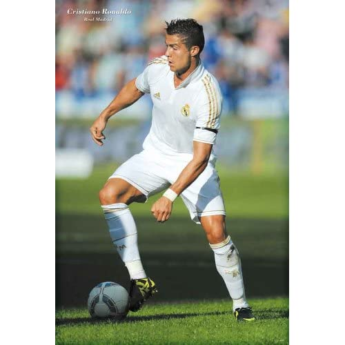 Ronaldo in action white jersey #B POSTER 23.5 x 34 Real Madrid