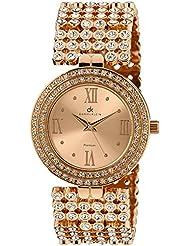 Daniel Klein Analog Gold Dial Women's Watch - DK10642-3