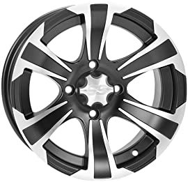 ITP SS312 Wheel 14x6 - 4+2 Offset - 4/115 Matte Black/Machined 14SS709BX