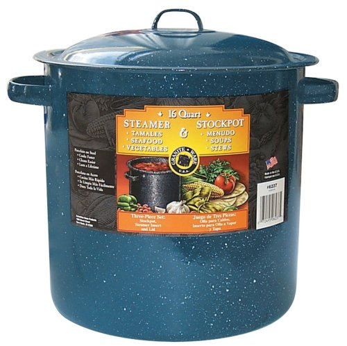 Granite Ware 6237-2 Tamale and Menudo Pot with Insert, 15.5-Quart