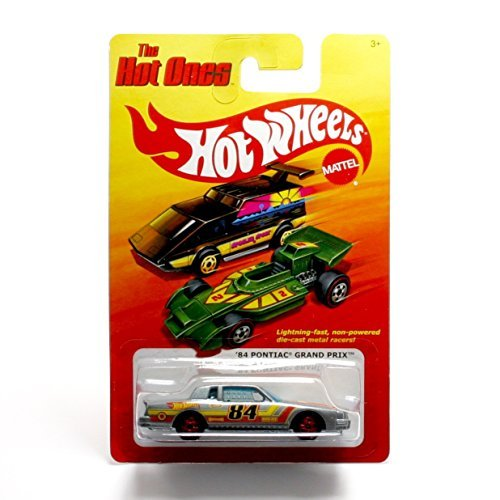 '84 PONTIAC GRAND PRIX (GREY) * The Hot Ones * 2011 Release of the 80's Classic Series - 1:64 Scale Throw Back HOT WHEELS Die-Cast Vehicle - 1