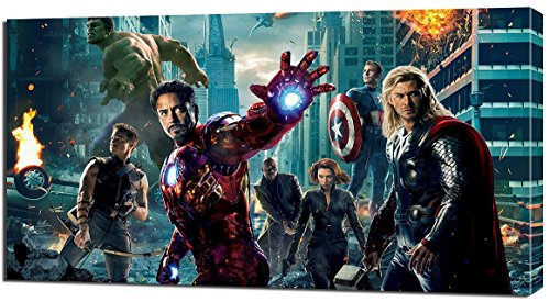 THE AVENGERS CANVAS PRINT Home Wall Decor Art Movie Hulk Iron Man Thor P074, Regular (Avenger Pictures compare prices)