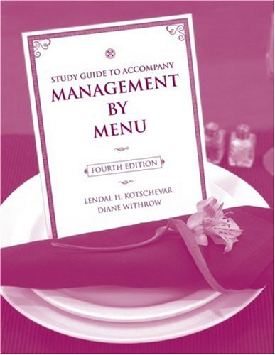 Study Guide To Accompany Management By Menu, Fourth Edition front-499799