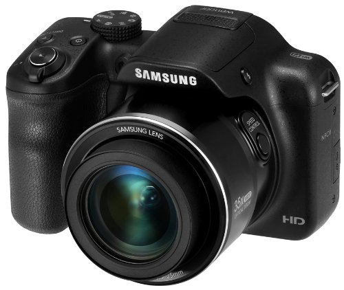Samsung WB1100F 16.2MP CCD Smart WiFi & NFC Digital Camera with 35x Optical Zoom, 3.0″ LCD and 720p HD Video (Black)