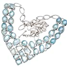 Ana Silver Co Aquamarine 925 Sterling Silver Signature Necklace 20