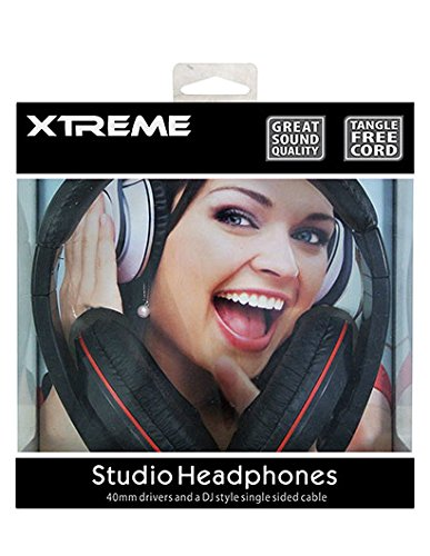 Xtreme DJ Studio Headphones 3.5mm Tangle Free Single Sided Mesh Nylon Cable