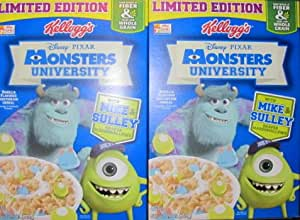 2 Boxes Kellogg's Pixar Monsters Universitywith Mike & Sulley Shaped Marshmallows