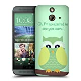 Head Case Designs Lime Wing Mean Owl Protective Snap-on Hard Back Case Cover for HTC One E8 LTE E8 Dual SIM