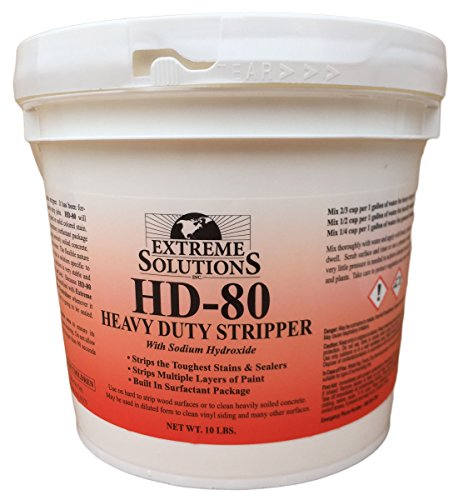 Heavy Duty Wood Stripper & Wood Cleaner for Wood Decks, Wood Fences, Wood Siding, and Log Cabins - HD80 - Woodrich Brand - Moss, Mold, Mildew, Sealer & Stain Remover - Covers up to 3000 Square Feet (Deck Stain Remover compare prices)