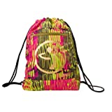 Zumba Fitness Women's Cut it Out Drawstring Backpack - Back to the Fuchsia, One Size