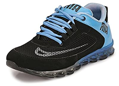 Afrojack men's air+ sports casual shoe (9, blue)