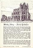 Fridge Magnet English Church Yorkshire Whitby Abbey Y39