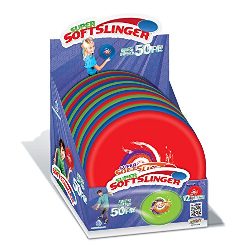 Geospace 12-inch Super Soft Slinger Flying Disc - Single (Assorted Colors)