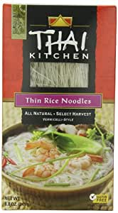 Thai Kitchen Thin Rice Noodles, 8.8-Ounce Unit (Pack of 12)